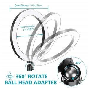 """Image 2 - 6 10 """"светодиодный светильник для селфи с кольцом лампа для Tik Tok фотография Макияж Видео Live Studio 3200 5600K Диммируемый Мини светодиодный кольцевой светильник для камеры"""