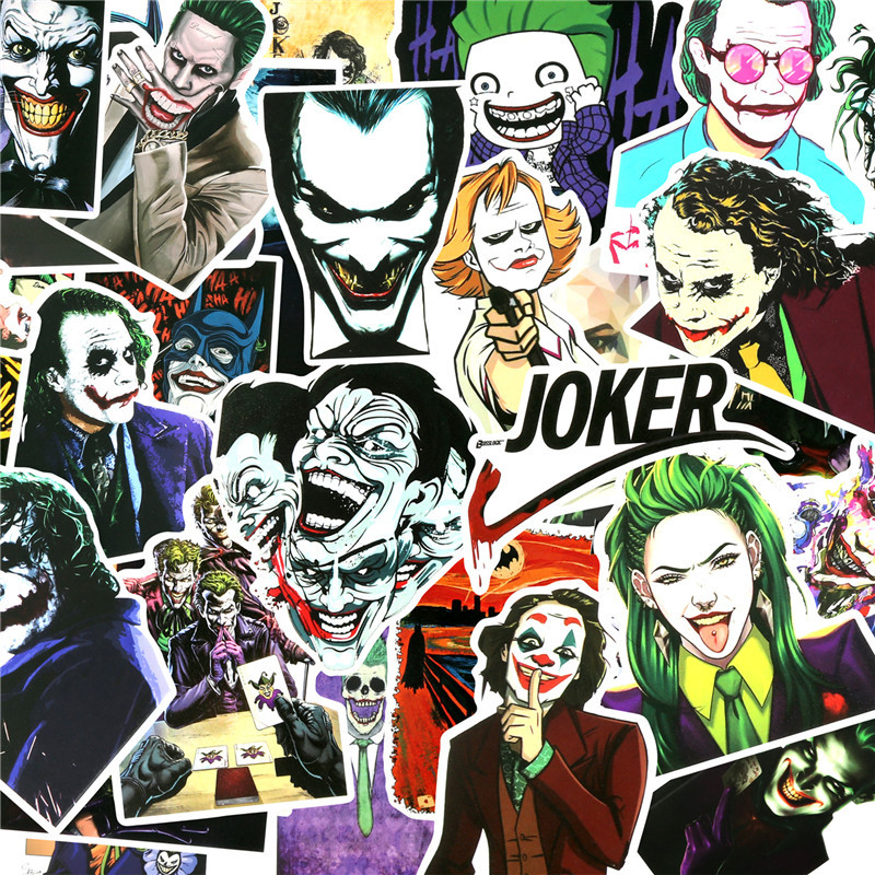 50 PCS Joker Sticker Super Villain Movie Anime Cartoon Pegatina For Luggage Skateboard Motorcycle Bicycle Cool Stickers