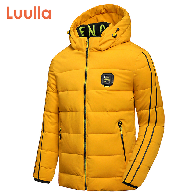 Luulla Men 2020 Winter New Casual Thick Warm Waterproof Hooded Jacket Parkas Coat Men Autumn Outwear Outfit Parkas Jackets Men 1