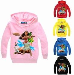 DLF, для детей возрастом от 2 до 16 лет Толстовка Moana детские свитера; Толстовки с капюшоном для девочек на день рождения Одежда для детей весенн...