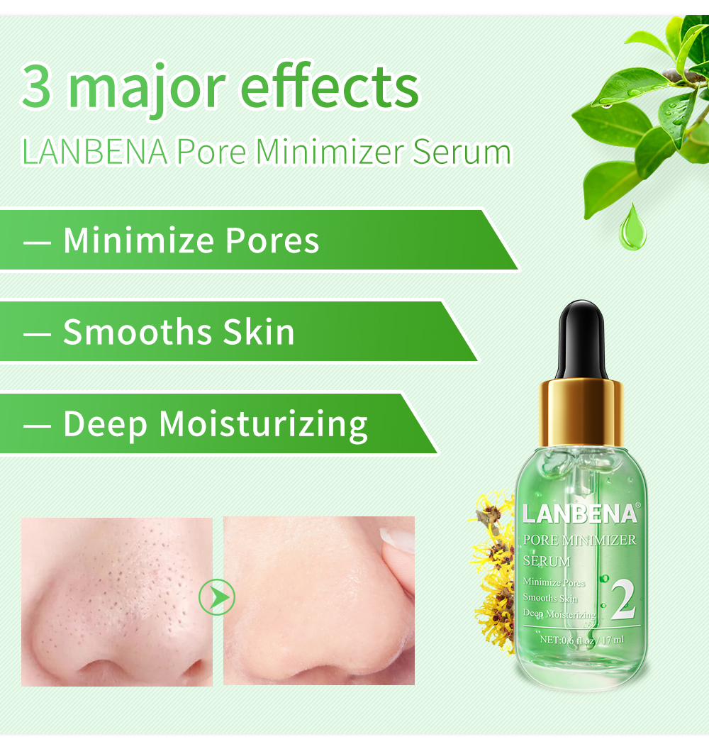 Lanbena Pore Minimizer Serum Removing Blackheads Shrinking Pores