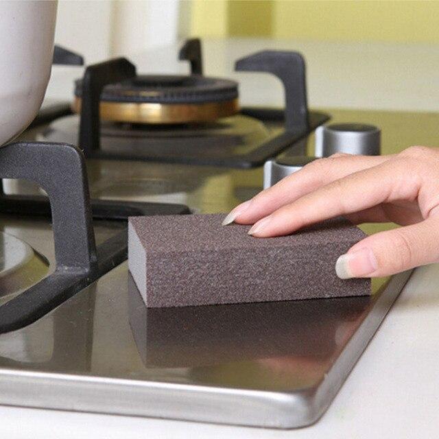 Éponge de nettoyage magique en microfibre, serviette de nettoyage pour la cuisine, frottez le Pot, les taches de rouille, 100x70x25mm, 1 pièces