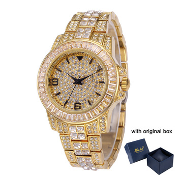 Bling Iced Out Watches for Men Luxury Diamond Mens Quartz Watch 18K Gold Stainless Steel Male Clock Pave CZ Hip Hop Wristwatches hip hop luxury mens iced out cz waterproof watches date quartz wrist watches with micropave alloy watch for men jewelry