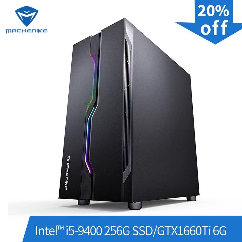 Machenike T90-T56 Intel Core i5-9400 GTX1660Ti 6G 8G ram 256G SSD игровой компьютер настольный ПК с поддержкой DOTA2, CSGO, GTA5, PUBG, LOL