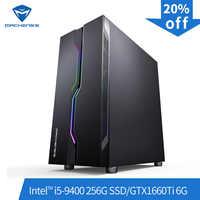 Machenike T90-T56 Intel Core i5-9400 GTX1660Ti 6G 8G RAM 256G SSD gaming computer desktop PC supported DOTA2,CSGO,GTA5, PUBG,LOL