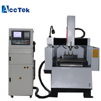 Manufacture supply metal cnc router/cnc plastic sheet cutting machine AK6060C/aluminum cnc machine|Wood Routers|Tools -