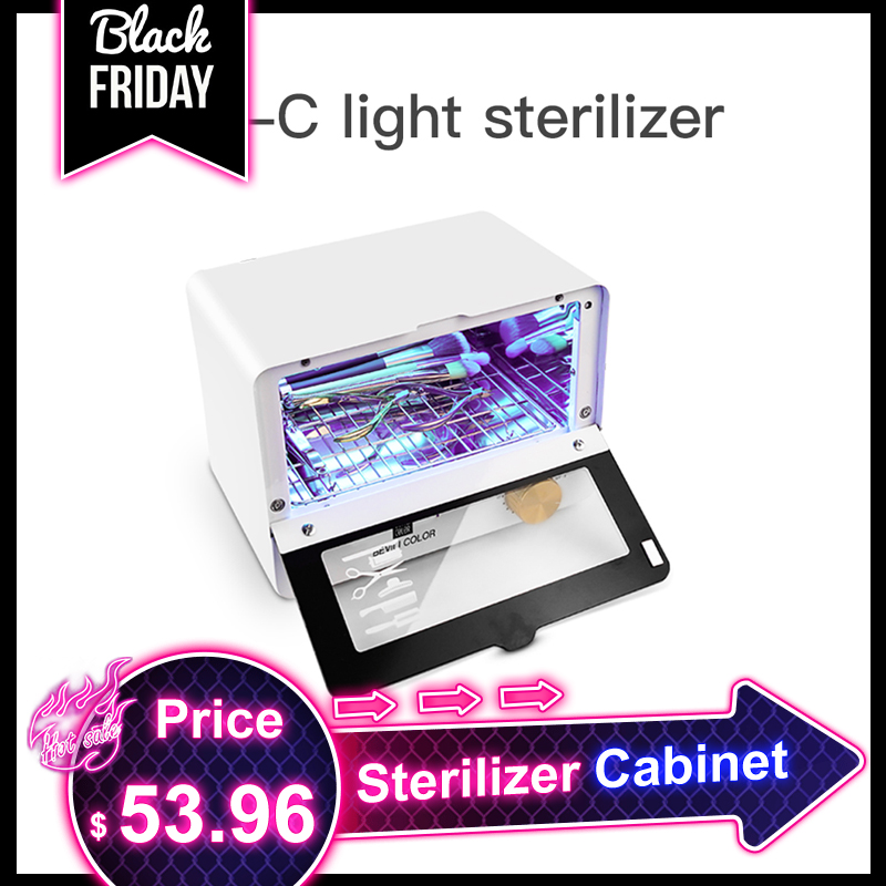 Ultraviolet UV Sterilizer Cabinet High temperature disinfection cabinet Nail Art Salon Sterilizer Portable Sterilizing machine