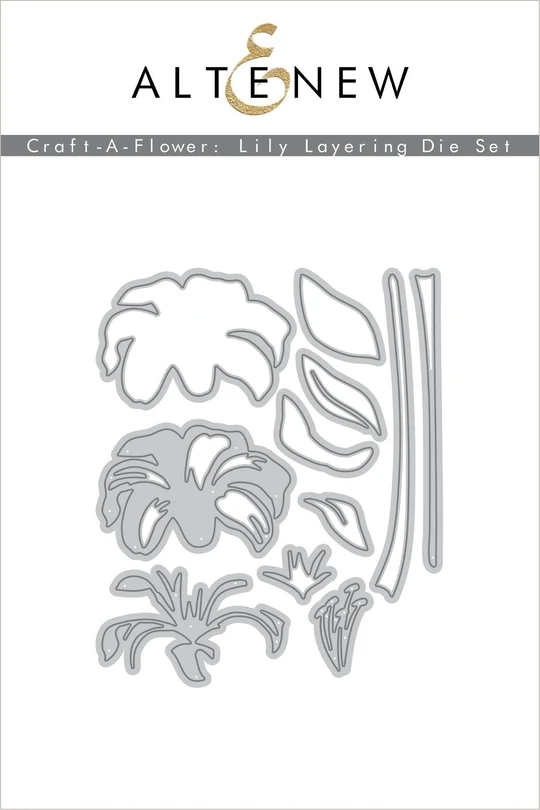 Metal Cutting Dies Lily Layering Die Set Crafts Stencil For DIY Scrapbooking Paper/photo Cards Embossing Die