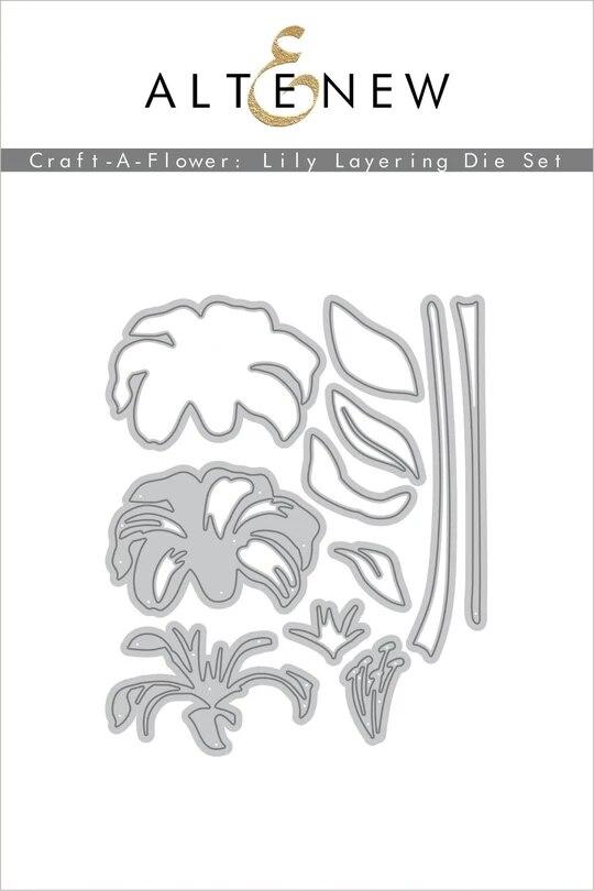 Metal Cutting Dies Lily Layering Die Set Crafts Stencil For DIY Scrapbooking Paper/photo Cards Embossing Die