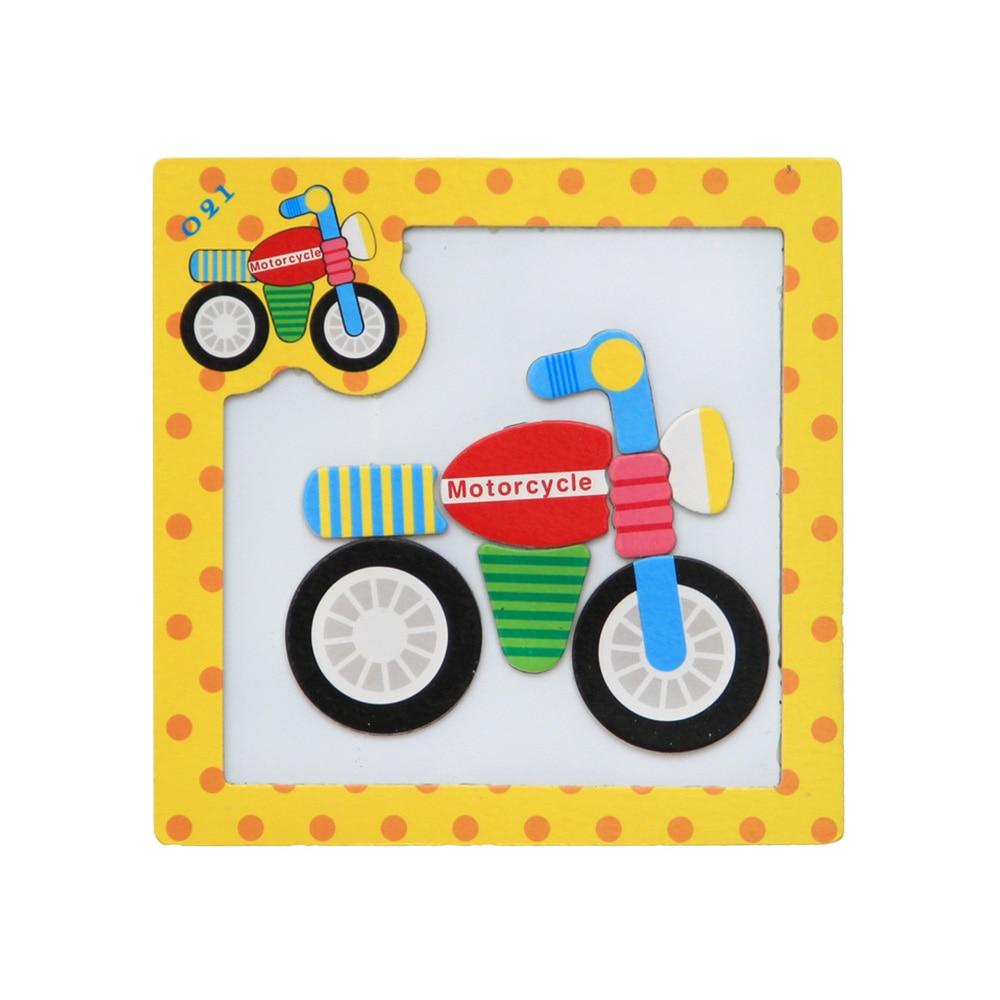3D Puzzle magnétique Puzzle jouets en bois dessin animé Puzzles Tangram enfants pour enfants dessin animé Animal/trafic Puzzles jouets éducatifs