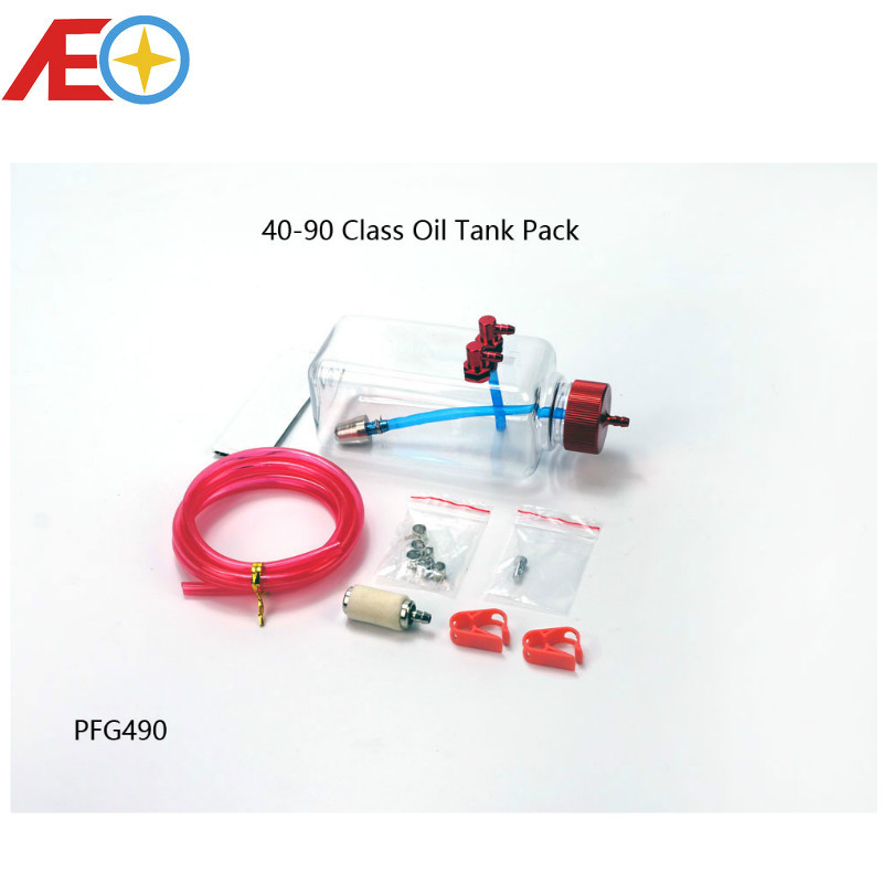 RC Plane Model Accessory Parts 40-90 Class Plastic Fuel Oil Tank Pack 300ml for Gas Power RC Airplane image