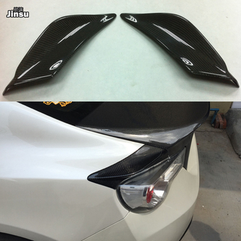 TRD style Carbon fiber rear trunk side spoiler For Toyota 86 For Subaru BRZ For Scion FR-S GT86 2012 - 2015 rear spoiler wing image
