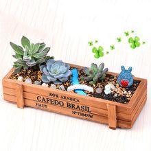 Vintage maceta para planta de jardín decorativo plantador de cajas de madera cajas de mesa rectangular flor olla jardinería herramientas de siembra