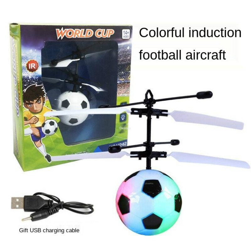 Suspended Induction Flying Ball Children's Toy Charging Flashing Football Intelligent Suspension Induction Aircraft