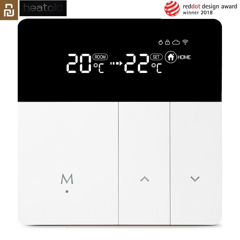 Умный термостат YOUPIN с Wi-Fi, регулятор температуры для воды, электрического напольного газового котла, отопления, управление через приложение...