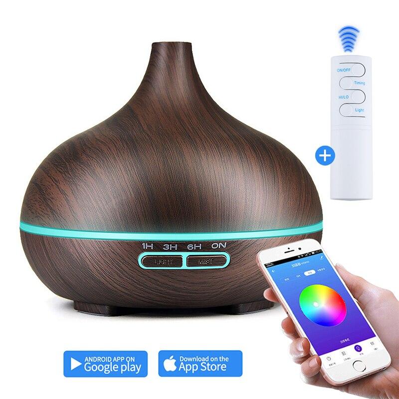 550MLWifi Smart APP Remote Conteol Air Humidifier Essential Oil Diffuser Aroma Lamp  Electric Aroma Diffuser Mist Maker