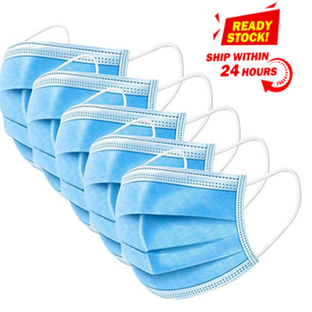 In stock! Fast Delivery! High Quality Non Woven Disposable Face Mask 3 Layers Anti-Dust Face Masks Ear loop Mouth Mask 1