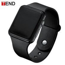 Лидирующий бренд Для мужчин Для женщин светодиодный часы унисекс цифровые часы электронные часы для мальчиков и девочек, спортивные наручные часы для мальчиков и девочек