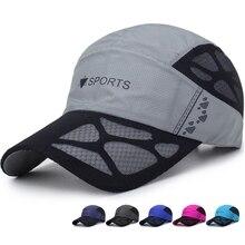 Baseball-Caps Summer Outdoor Mesh Sun-Hats Golf-Fishing-Cap Adjustable Quick-Dry Unisex