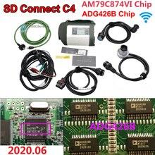새로운 최고의 품질 AM79C874VI 칩 MB 스타 C4 MB SD 연결 컴팩트 4 진단 도구와 와이파이 기능 ADG426B 칩