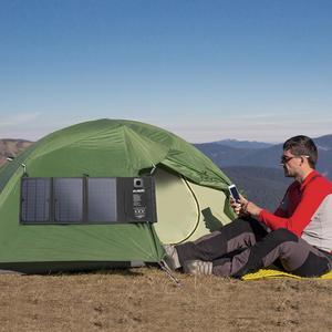 Image 3 - Suaoki 21W 태양 전지 패널 충전기 배터리 접이식 방수 태양 에너지 LED 디스플레이 듀얼 USB 5V/4A 출력 아이폰 X 8 화웨이