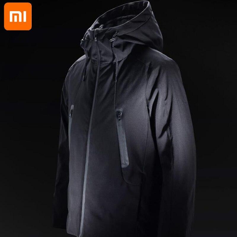 Xiaomi новый зимний теплый пуховик умный температурный контроль куртка Гусиный пух одежда можно стирать|Смарт-гаджеты|   | АлиЭкспресс