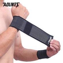 AOLIKES 1PCS Cotone Elastico Dalla Fasciatura A Mano Wristband di Sport Palestra Supporto Per Il Polso Brace Wrap del tunnel carpale