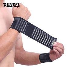 AOLIKES 1 шт. хлопчатобумажный эластичный бандаж, ручной тренажерный спортивный браслет с поддержкой запястья, запястный бандаж, туннель для за...