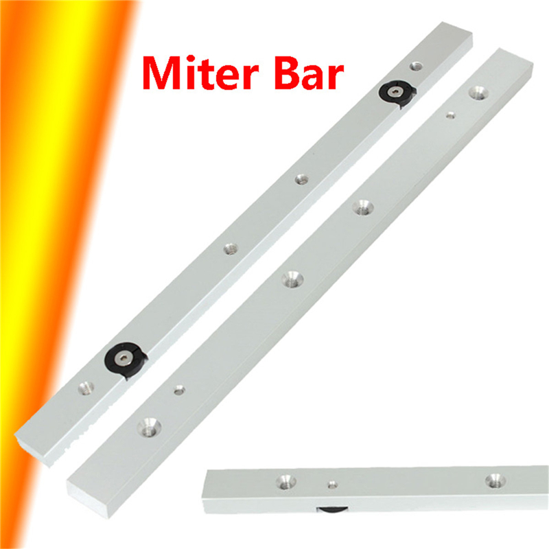 300mm Miter Slider Table Saw Universal Aluminum Alloy Miter Bar Miter Gauge Rod Woodworking Tool Linear Guides     - title=