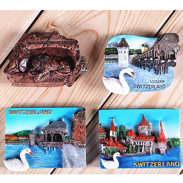 Magnetic refrigerator magnets Italy Switzerland Chile Austria European  countries Tourist attractions souvenir Home decoration 6