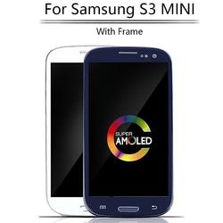 Oryginalny super amoled 4.0 ''LCD do samsunga GALAXY S3 Mini i8190 i8190N i8195 wyświetlacz LCD montaż digitizera ekranu dotykowego ramki w Ekrany LCD do tel. komórkowych od Telefony komórkowe i telekomunikacja na