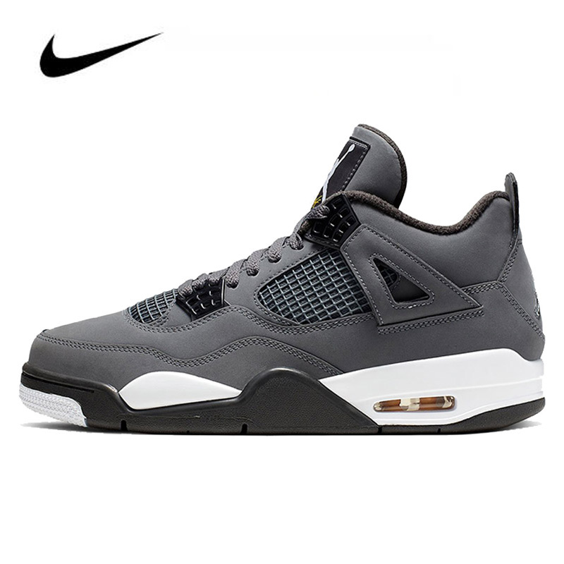 Nike Air Jordan 4 Cool Grey 2019 Men's Basketball Shoes Original High Top Jordan Sneakers Basketball Shoes Men Unisex Women