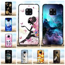 For Huawei Mate 20 Pro Case Soft TPU LYA-L09 LYA-L29 Cover Girl Patterned Coque