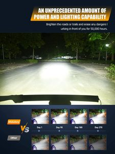 Image 3 - Weketory 5D 22 32 42 52 cale 200W 300W 400W 500W zakrzywiona listwa świetlna LED robocza do ciągnika łódź OffRoad 4WD 4x4 samochód ciężarowy SUV ATV