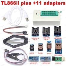 XGECU 100% oryginalny XGecu Pro TL866ii Plus + 9 adaptery EEPROM uniwersalny Bios programator USB lepiej niż TL866A TL866CS