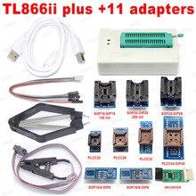 Xgecu 100% オリジナルxgecuプロTL866iiプラス + 9 アダプタeepromユニバーサルbios usbプログラマよりもTL866A TL866CS