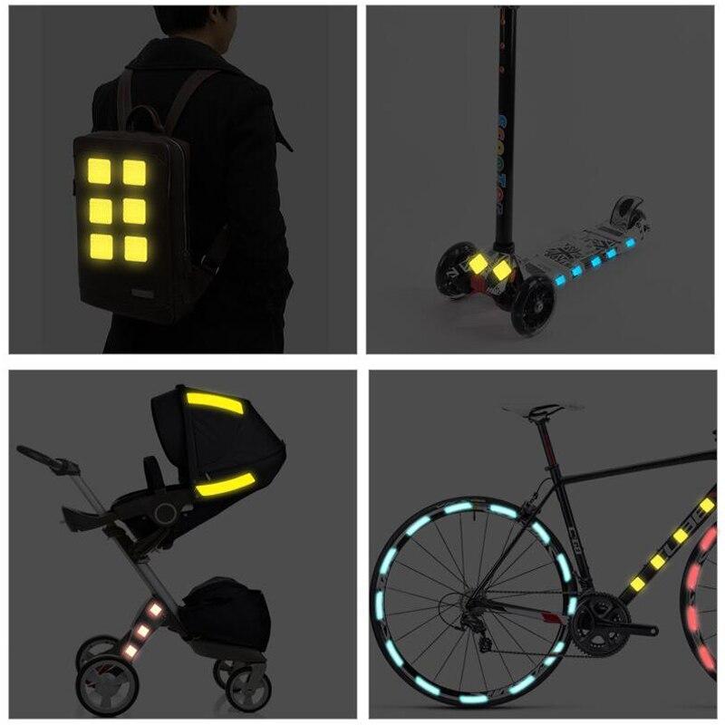 Купить 5 шт/лот светоотражающие наклейки на велосипед клейкая лента
