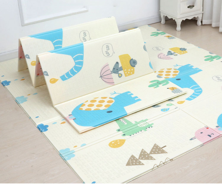 H9f016b3f7d2d4098a91f52cefaca13e1s 200*180cm  Foldable Cartoon Baby Play Mat Xpe Puzzle Children's Mat Baby Climbing Pad Kids Rug Baby Games Mats