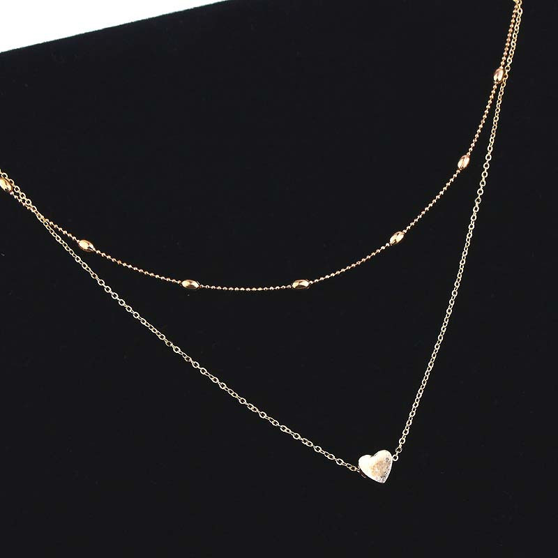 Small heart choker Necklace for women gold chain Smalll love necklace pendant in collar Bohemian Chocker necklace jewelry