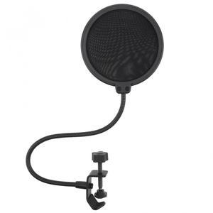 Image 3 - 100mm durchmesser Doppel Schicht Studio Mikrofon Wind Bildschirm Maske Mic Pop Filter Schild für Sprechen Studio Singen Aufnahme