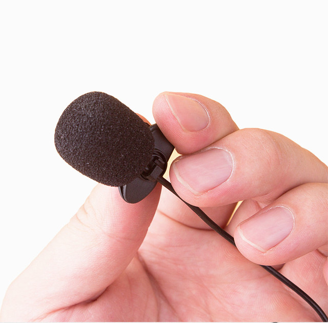 Mini Portable Microphone Handle 1.5M Condenser Clip-on Lapel Recording Stereo Wired For Phone Laptop Studio Microphones