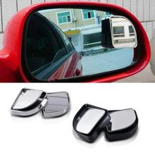 Blind Spot Mirror Rearview Convex Adjustable Side Mirrors Rotate Wide Angle Rear View Mirror HD Glass Fan Shape(China)