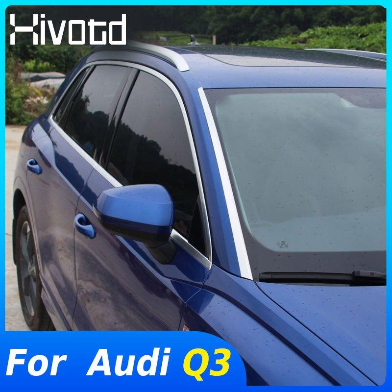 Hivotd Für Audi Q3 2020 2019 Zubehör Auto Front Fenster Windschutzscheibe Dekoration Streifen Pailletten Trim Außen Änderung Styling