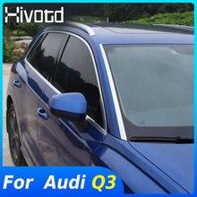 Hivotd-accesorios para ventana delantera de automóvil, decoración de parabrisas, tira de lentejuelas embellecedora, estilo de modificación Exterior para Audi Q3 2020 2019