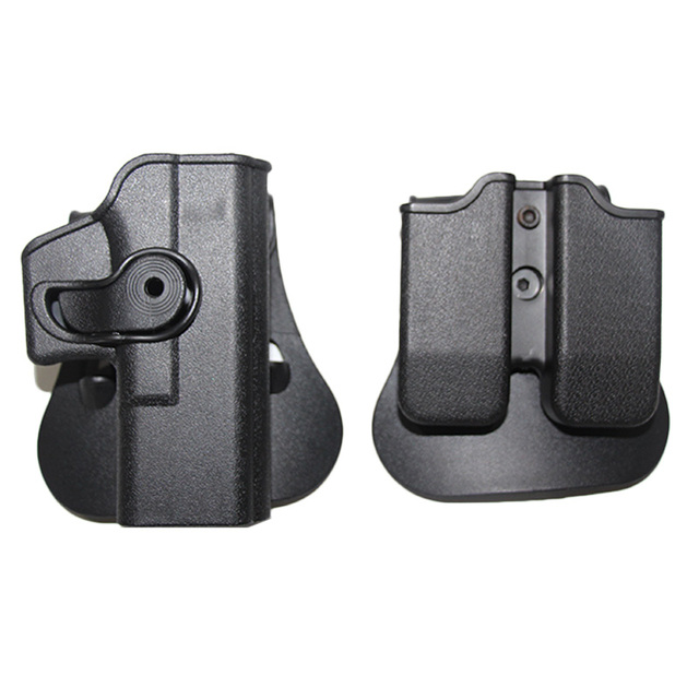 Tactical IMI Glock holster Pistol Airsoft Gun holster for Glock 17 19 22 26 Case waist with magazine Pouch Hunting Accessories 6