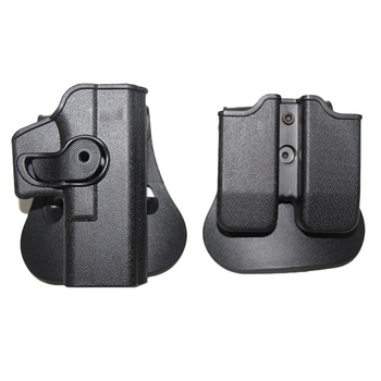 Taktik IMI Glock kılıfı tabanca Airsoft tabanca kılıfı Glock 17 19 22 26 kılıfı bel dergi kılıfı ile avcılık aksesuarları