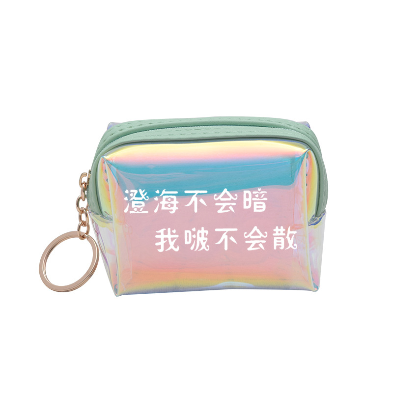 Idol Trainees Related Products Wallet Cai Xu Kun Huang Ming Hao Chen Li Agricultural-Style Cheng Cute Laser Transparent Purse
