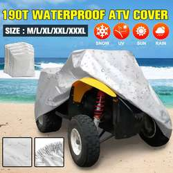 190T Waterproof ATV Cover Anti-UV Quad ATV Vehicle Scooter Motorbike Car Clothing Sun Cover Rain Cover M-XXXL