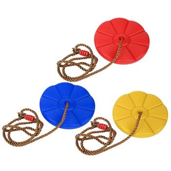 Huśtawka dla dzieci huśtawka lina wspinaczkowa z platformami tarcza okrągła huśtawka huśtawka zewnętrzna i huśtawka zestaw tanie i dobre opinie CN (pochodzenie) Z tworzywa sztucznego 4-6y 7-12y 12 + y Produkty na stanie Swing Toy Sport Safe use