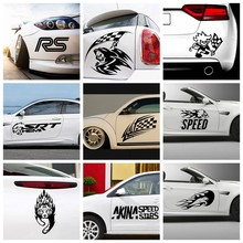 Criativo f1 racing autoadesivo engraçado colorido carro adesivos automotivos decalques